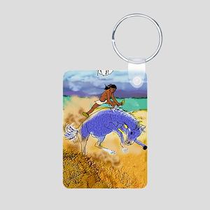 Potawatomi Pony Aluminum Photo Keychain