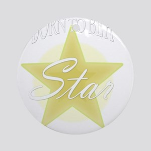Star_Gold Round Ornament