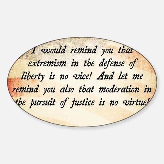Barry Goldwater Quote Sticker (Oval)
