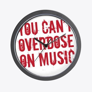 overdose on music Wall Clock