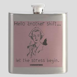 Hello Shift Pink Nurse Tote Bag Flask