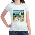 Bunny Rabbits Jump Jr. Ringer T-Shirt