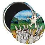 "Bunny Rabbits Jump 2.25"" Magnet (10 pack)"