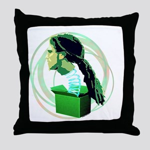 WHATS IN THE BOX GREEN Throw Pillow