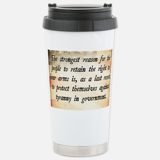 Second Amendment Stainless Steel Travel Mug