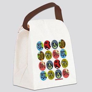 RN Colorful Polkadot Tote Bag Canvas Lunch Bag
