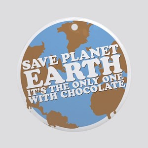 save earth Round Ornament
