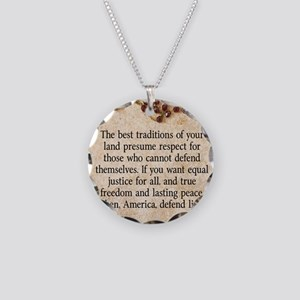 Pope John Paul Defend Life Necklace Circle Charm
