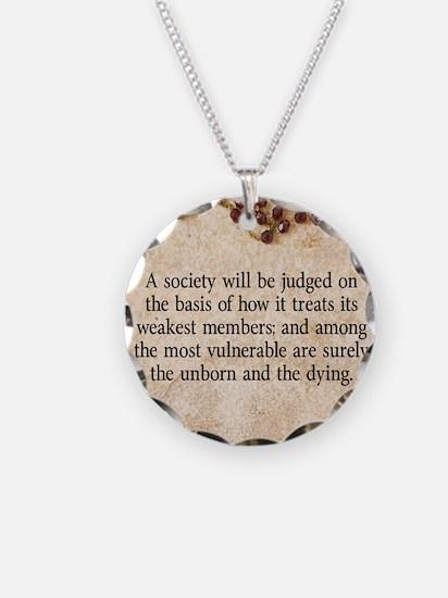 Pope John Paul II Pro-Life Necklace
