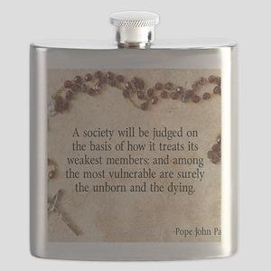 Pope John Paul II Pro-Life Flask