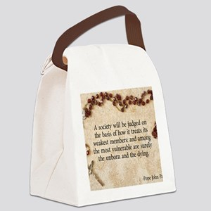 Pope John Paul II Pro-Life Canvas Lunch Bag