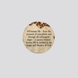 Catholic Pro-Life Quote Mini Button