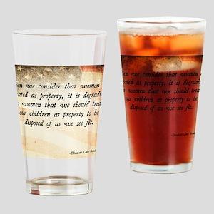 Elizabeth Cady Stanton Drinking Glass