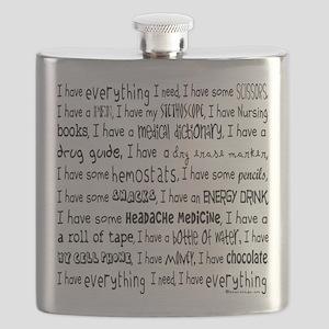Everything I Need Nurse Tote Bag Flask