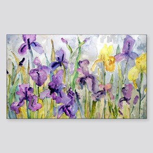 Purple and Yellow Iris Romanti Sticker (Rectangle)