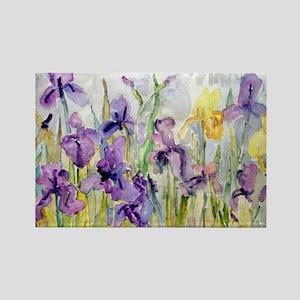 Purple and Yellow Iris Romantic R Rectangle Magnet