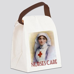 Red Cross Poster Nurses Care Tote Canvas Lunch Bag
