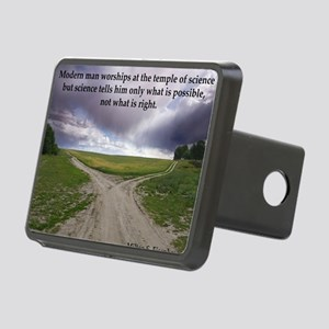 Eisenhower Quote Rectangular Hitch Cover