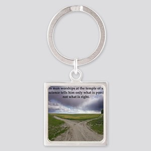 Eisenhower Quote Square Keychain