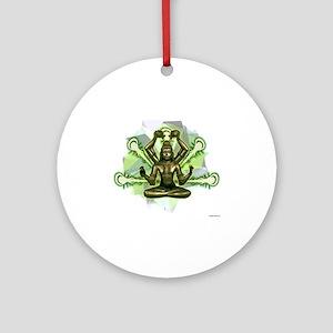 GREEN SHIVA Round Ornament