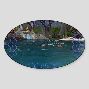 Zen Tide Sticker (Oval)