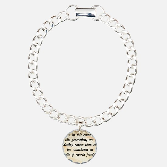 JFK Foreign Policy Quote Bracelet
