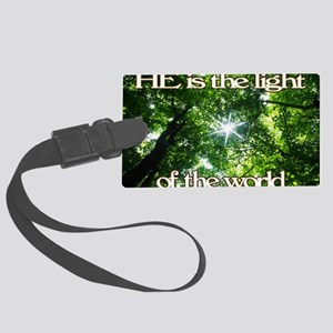 He is the Light Green Large Luggage Tag