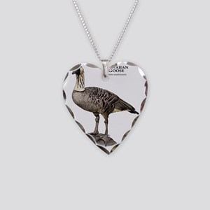 Hawaiian Goose or Nene Necklace Heart Charm