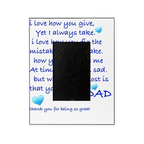 I Love My Dad Picture Frame By Admincp68576347