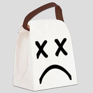 Smiley sad Canvas Lunch Bag