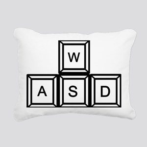 WASD Gaming Rectangular Canvas Pillow