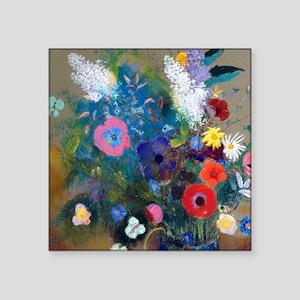 "Btn Redon Bouquet Square Sticker 3"" x 3"""