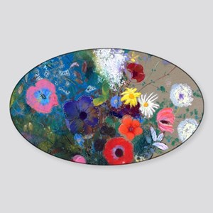 Pic Redon Bouquet Sticker (Oval)
