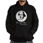 Prose Before Hoes - Shakespeare Quote Hoodie (dark