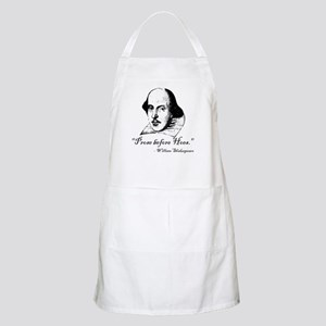 Prose Before Hoes - Shakespeare Quote Apron