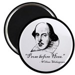 Prose Before Hoes - Shakespeare Quote Magnet