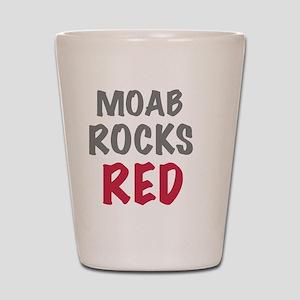 Moab rocks red, for dark Shot Glass
