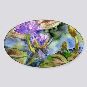 Purple Lily Sticker (Oval)