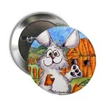 "Cartoon Rabbit Carrot 2.25"" Button (10 pack)"