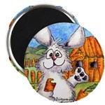 "Cartoon Rabbit Carrot 2.25"" Magnet (10 pack)"