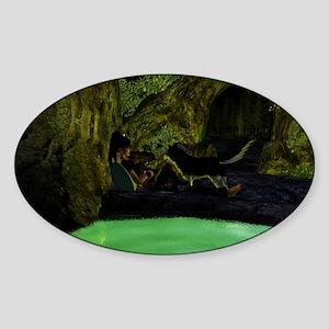 Meditation Sticker (Oval)