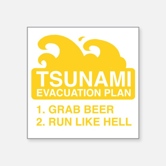 "tsunamiBeer1F Square Sticker 3"" x 3"""