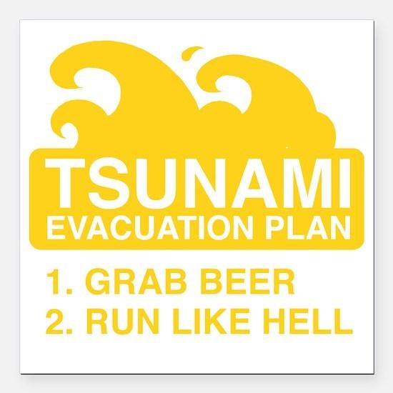 "tsunamiBeer1F Square Car Magnet 3"" x 3"""