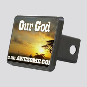 Our God is an awesome God Rectangular Hitch Cover