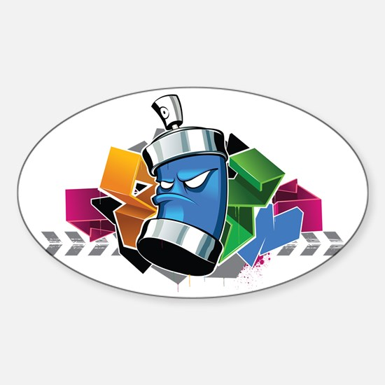 Graffiti Spray Sticker (Oval)
