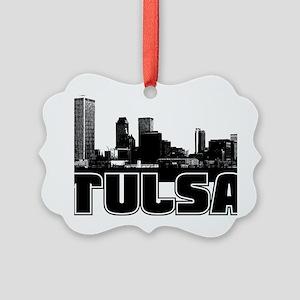 Tulsa Skyline Picture Ornament