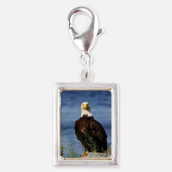 American Bald Eagle Silver Portrait Charm