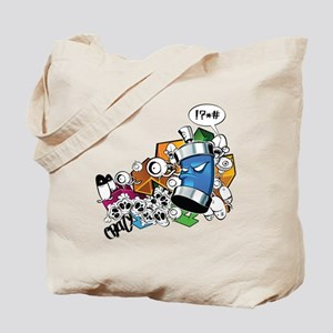 Strange Graffiti Tote Bag