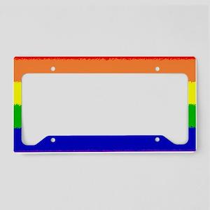 Rainbow Flag License Plate Holder