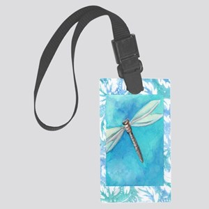 Dragonfly Watercolor Large Luggage Tag